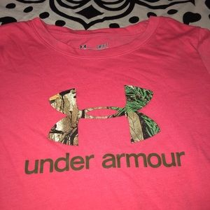Pink Under Armour Long Sleeve T shirt